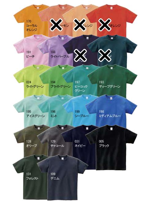 00085-CVT ヘビーウェイトTシャツ カラーバリエーション2