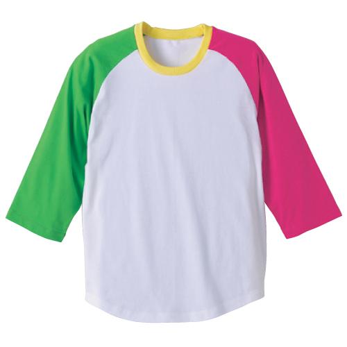 5404-01 5.0オンス ラグラン 3/4スリーブ Tシャツ